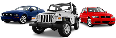 2005 Mustang Coupe Jeep Wrangler and BMW