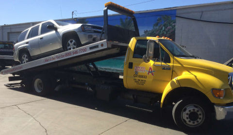 Cash For Cars Riverside premium Flatbed Tow Truck